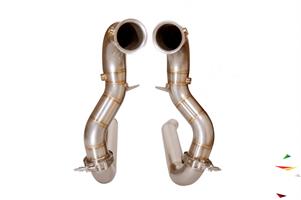 Даунпайп (Downpipe) и Мидпайп (Midpipe) 84мм для Mercedes AMG GT/GTS - photo 11867