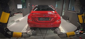 Mercedes C63 AMG 4.0 (476 л.с.) W205 двигатель M177 V8 Biturbo - photo 5076
