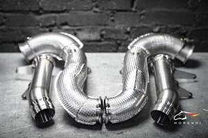 Даунпайп (Downpipe) и Мидпайп (Midpipe) 84мм для Mercedes AMG GT63 GT63S 4door кузов W290 с двигателем M177 BiTurbo