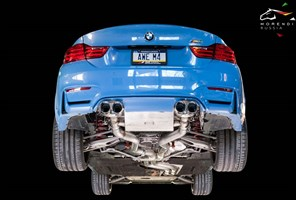 Выхлопная система AWE Tuning BMW F8X M3/M4 Non Resonated SwitchPath Exhaust - Diamond Black Tips (102mm)